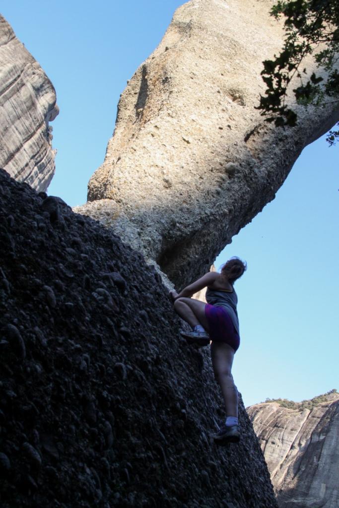 Kiipeilyä Meteoran kansallispuistossa