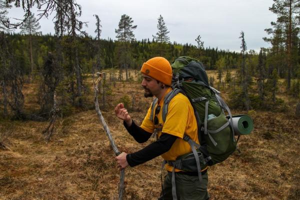 Vaeltaja Syötteen kansallispuistossa